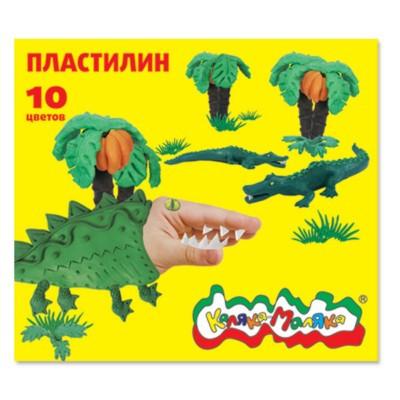 Пластилин Каляка-Маляка 10 цв. 150 г со стеком 3+