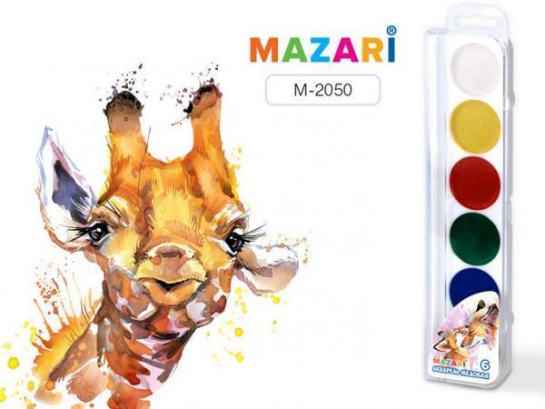 Краски акварельные 6 цветов  Animals Park  пластиковая упаковка