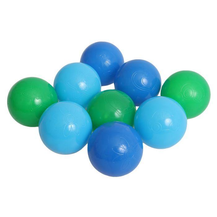 Шарики для сухого бассейна Морские с рисунком, диаметр шара 7,5 см, набор 9 шт.