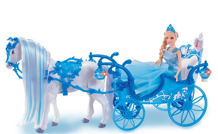 """Карета """"Girl's club"""" с ходячей лошадкой и куклой"""