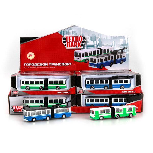 Автобус/троллейбус с резинкой Технопарк металл.12см
