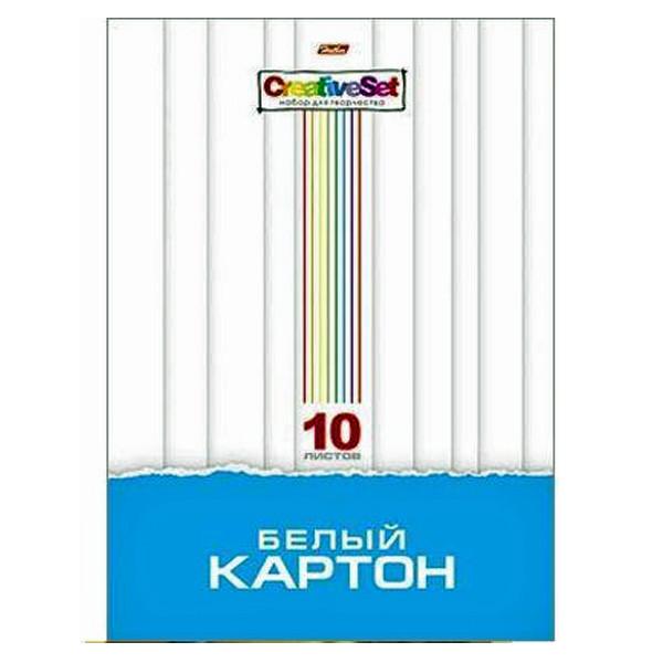 """Картон белый мелов А4 10л """"Creative Set"""" в папке ХАТБЕР"""