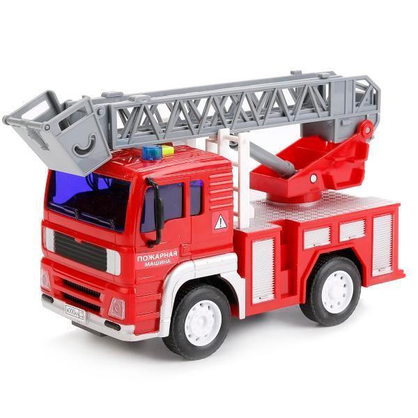 Машина Технопарк Пожарная машина пласт.инерц.,свет+звук