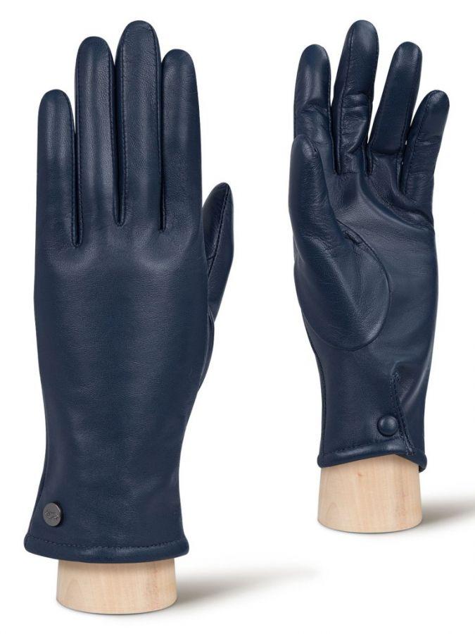 Кожаные перчатки с манжетой на кнопке LABBRA