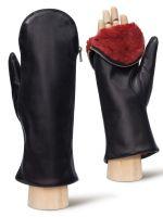 Кожаные женские рукавицы ELEGANZZA