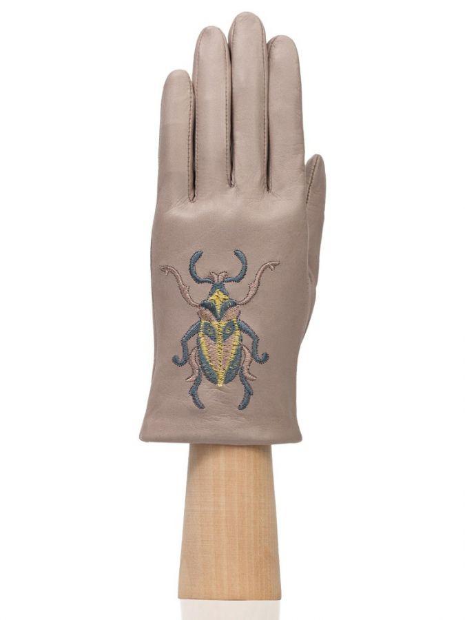 Тонкие кожаные перчатки ELEGANZZA