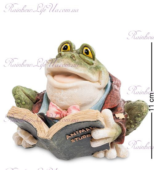 "Фигурка лягушка с книгой ""Sealmark"""