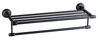Полка для полотенец 60 см Savol S-606644H.черная
