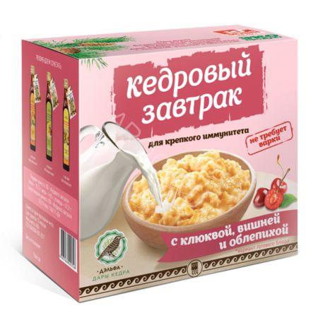 Завтрак кедровый для иммунитета с клюквой, вишней и облепихой