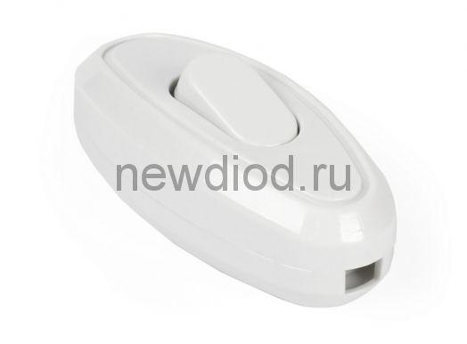 Переключатель для бра SMARTBUY проходной белый 6А 250В (SBE-06-S04-w)