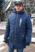темно-синяя зимняя мужская куртка