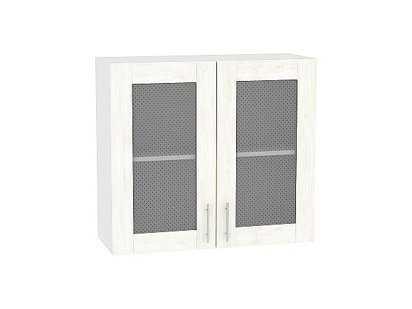 Шкаф верхний Лофт В809 со стеклом (nordic oak)