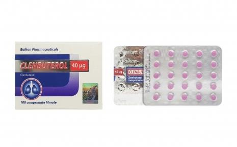 Clenbuterol 100 tabs. 0,04mg/tab (Balkan pharmaceuticals)