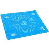 Силиконовый коврик для раскатывания теста, цвет голубой