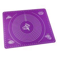 Силиконовый коврик для раскатывания теста, цвет фиолетовый