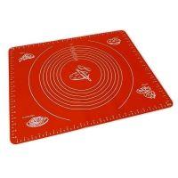 Силиконовый коврик для раскатывания теста, цвет красный