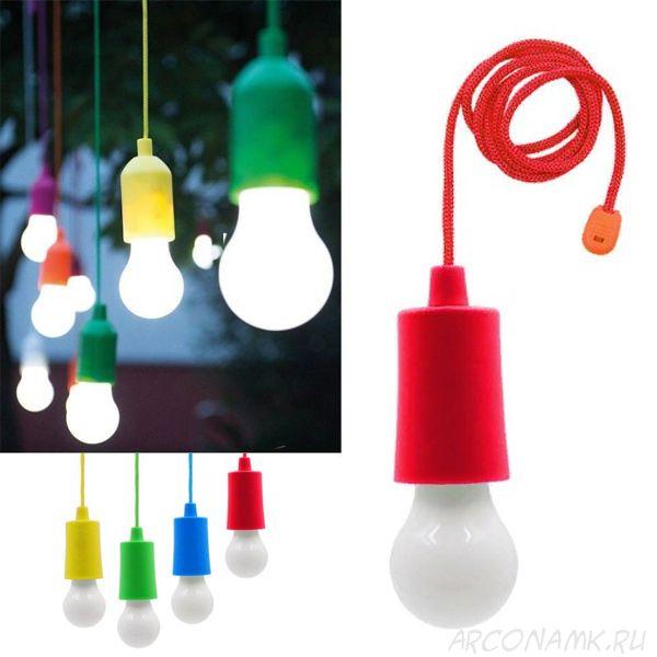 Светодиодная лампочка на шнурке Led Stretch Switch Light, Цвет: Красный