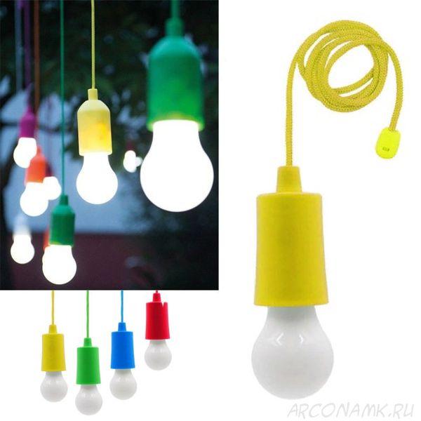 Светодиодная лампочка на шнурке Led Stretch Switch Light, Цвет: Жёлтый