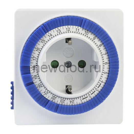 Розетка с таймером SMARTBUY механическим 3600Вт, 96 вкл./выкл. сутки, интервал 15 мин.