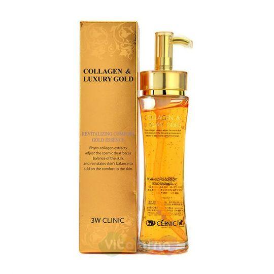 3W CLINIC Эссенция для лица Collagen & Luxury Gold Revitalizing Comfort Gold Essence, 150 мл