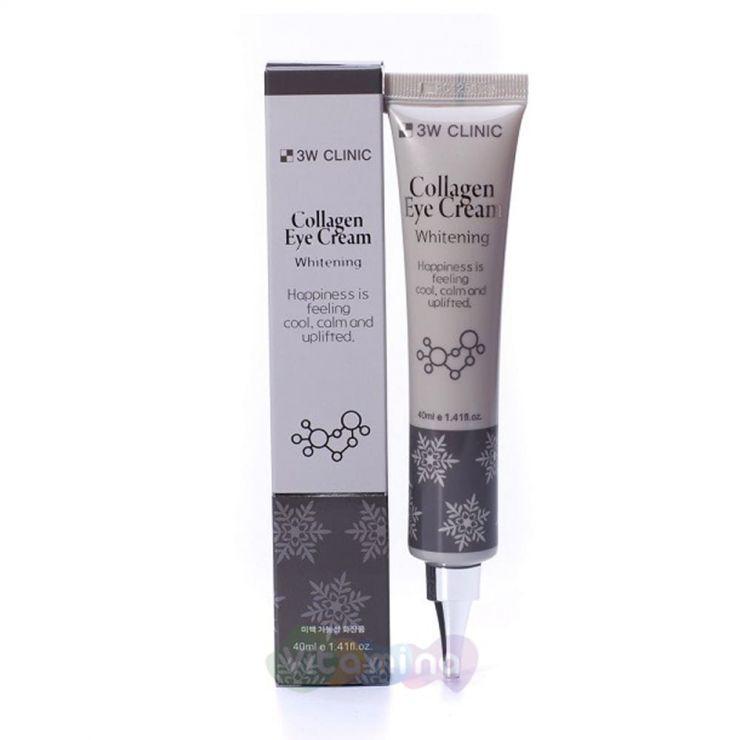 3W CLINIC Осветляющий крем для век с коллагеном Collagen Eye Cream, 40 мл