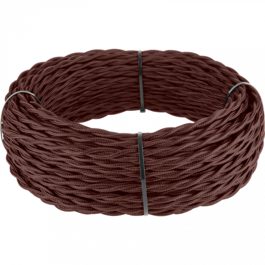 Ретро кабель витой 2х1,5 (итальянский орех)
