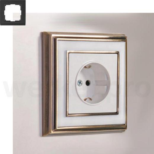 Рамка на 1 пост WL17-Frame-01 бронза / белый