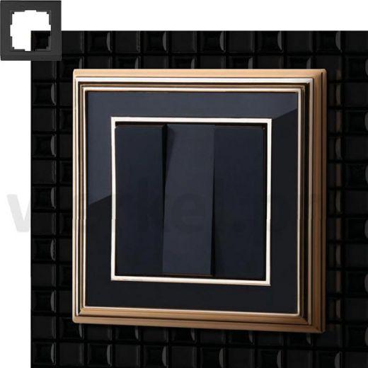Рамка на 1 пост WL17-Frame-01 золото / черный