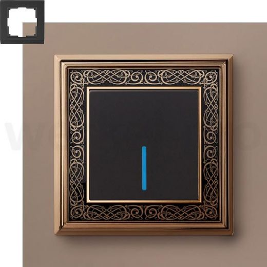 Рамка на 1 пост WL77-Frame-01 Золото/черный