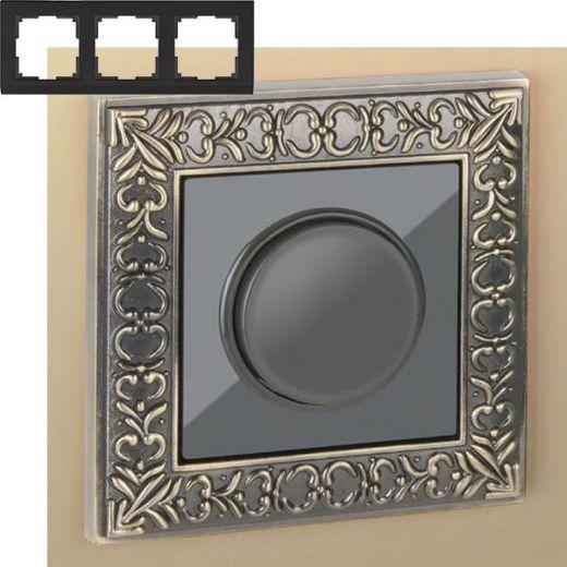 Рамка на 3 пост Werkel WL07-Frame-03 Бронза