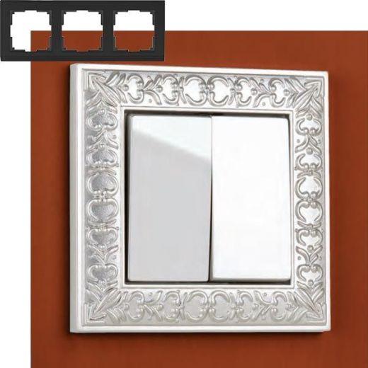 Рамка на 3 поста Werkel WL07-Frame-03 Жемчужный