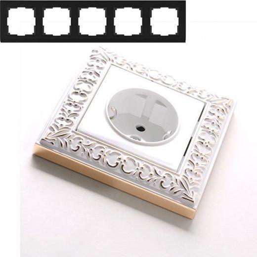Рамка на 5 постов Werkel WL07-Frame-05 Белое золото