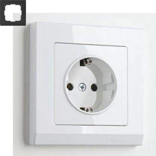 Рамка на 1 пост Werkel WL04-Frame-01 Белый