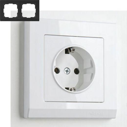 Рамка на 2 поста Werkel WL04-Frame-02 Белый