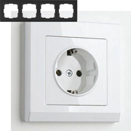 Рамка на 4 поста Werkel WL04-Frame-04 Белый