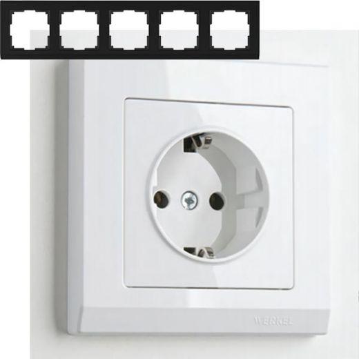 Рамка на 5 постов Werkel WL04-Frame-05 Белый