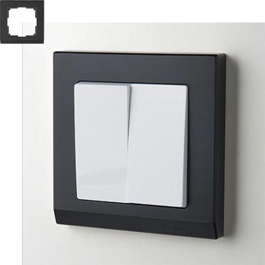Рамка на 1 пост Werkel WL04-Frame-01 Черный