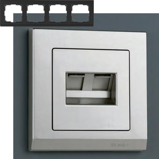 Рамка на 4 поста Werkel WL04-Frame-04 Серебряный