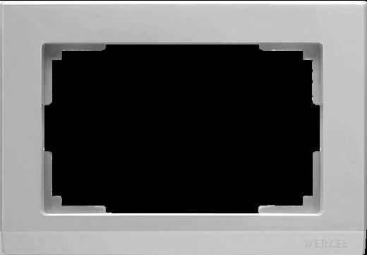 Рамка для двойной розетки WL04-Frame-01-DBL серебряный