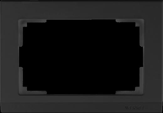 Рамка для двойной розетки WL04-Frame-01-DBL черный