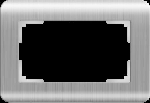 Рамка для двойной розетки Werkel WL12-Frame-01-DBL Серебряный