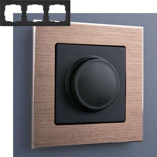 Рамка на 3 поста Werkel WL11-Frame-03 Коричневый алюминий