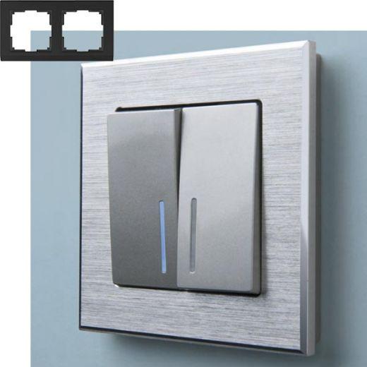 Рамка на 2 поста Werkel WL11-Frame-02 Алюминий