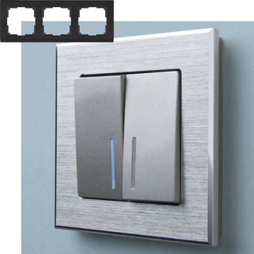 Рамка на 3 поста Werkel WL11-Frame-03 Алюминий
