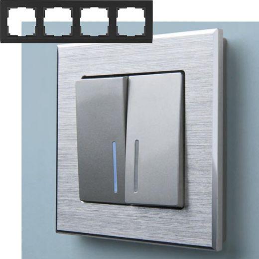 Рамка на 4 поста Werkel WL11-Frame-04 Алюминий