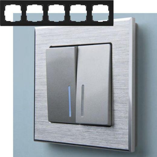 Рамка на 5 постов Werkel WL11-Frame-05 Алюминий