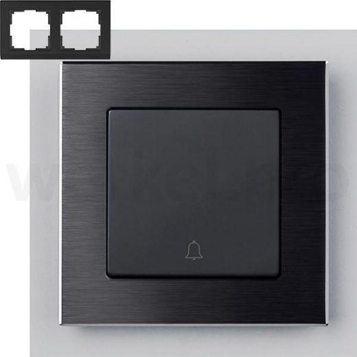 Рамка на 2 поста Werkel WL11-Frame-02 Черный алюминий