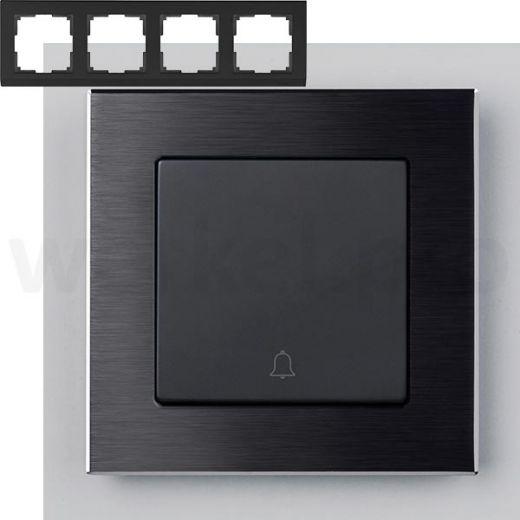 Рамка на 4 поста Werkel WL11-Frame-04 Черный алюминий