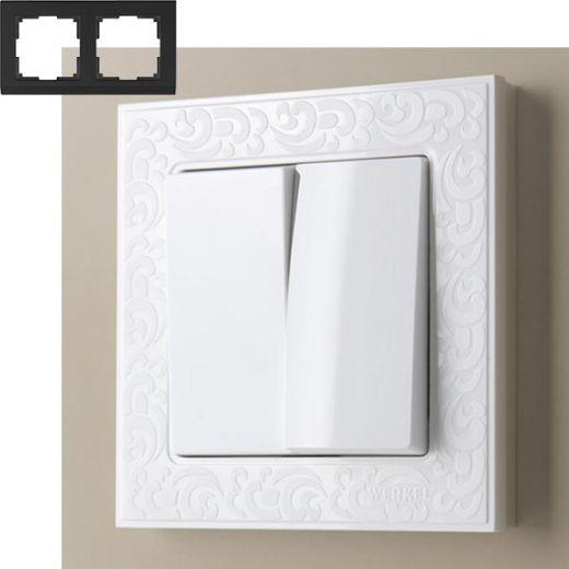 Рамка на 2 поста Werkel WL05-Frame-02 Белый