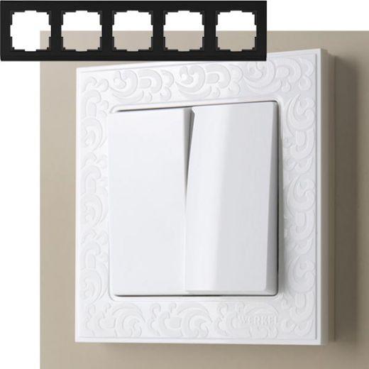 Рамка на 5 постов Werkel WL05-Frame-05 Белый